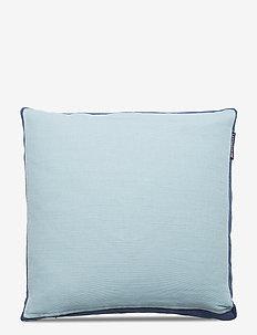 Cotton Jute Sham - poszewki na poduszki ozdobne - aqua