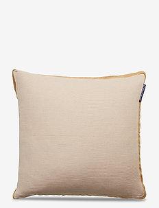 Cotton Jute Sham - poszewki na poduszki ozdobne - beige