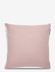 Cotton Jute Sham - cushion covers - pink