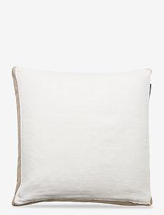 Cotton Jute Sham - housses de coussins - white