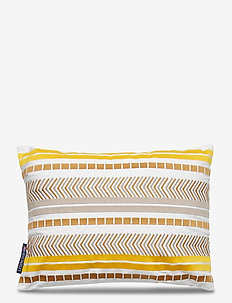 Embroidered Jacquard Sham - cushion covers - yellow