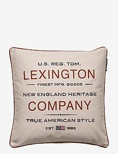 Lexington Beige Logo Sham - kuddfodral - beige