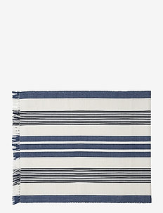 Striped Fringe Runner - nappes et chemins de table - white/blue