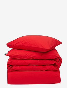 Red Washed Cotton Bed Set - bedding sets - red
