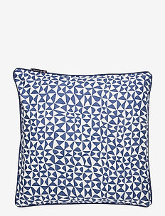 Coral Printed Cotton Pillow Cover - taie d'oreiller - blue