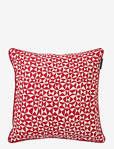 Coral Printed Cotton Pillow Cover - tyynyliinat - red
