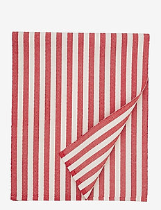 Striped Cotton Runner - tischdecken & tischläufer - red/white