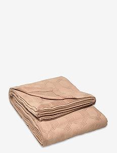 Jacquard Cotton Velvet Bedspread - Överkast - dk. beige