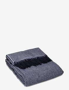 Herringbone Recycled Wool Throw - blankets - blue