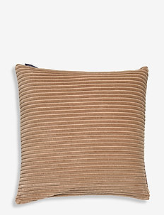 Velvet Cord Cotton Pillow Cover - cushion covers - dk. beige