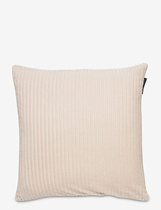 Velvet Cord Cotton Pillow Cover - cushion covers - off white