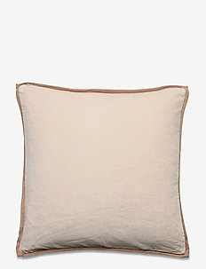 Velvet Cotton Pillow Cover With Edge - cushion covers - off white