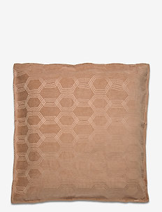 Jacquard Cotton Velvet Pillow Cover 65x65cm - cushion covers - dk. beige
