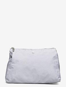 Icons Big Toilet Bag - meikkilaukut - gray/white stripe