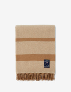 Herringbone Recycled Wool Throw - blankets - beige