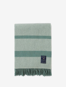 Herringbone Recycled Wool Throw - viltit - green