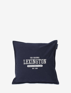 Logo Cotton Canvas Pillow Cover - pillowcases - dk. blue