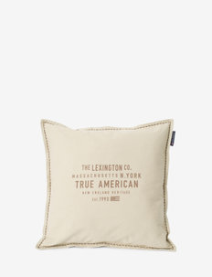 True American Cotton Canvas Pillow Cover - pillowcases - lt beige