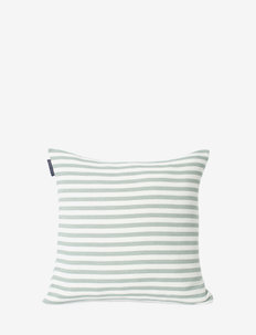 Block Striped Recycled Cotton Pillow Cover - tyynyliinat - green