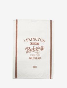 Printed Cotton Twill Kitchen Towel - keittiöpyyhkeet - off white/brown