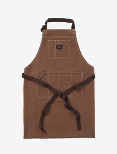 Brown Cotton Canvas Apron - schorten - brown