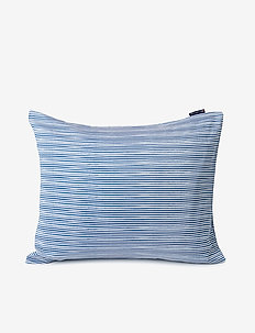 Blue Striped Organic Cotton Sateen Pillowcase - taie d'oreiller - blue/white