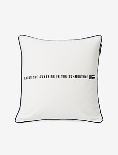 Enjoy Cotton Twill Pillow Cover - taie d'oreiller - white