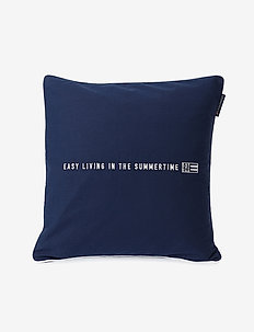 Easy Living Cotton Twill Pillow Cover - taie d'oreiller - dk. blue