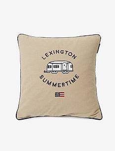 Airstreamer Cotton Canvas Pillow Cover - housses de coussins - beige