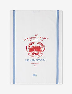 Crab Cotton Twill Kitchen Towel - torchons - white/red/blue