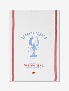 Lobster Cotton Twill Kitchen Towel - torchons - white/red/blue