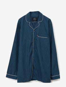 Ethan Cotton/Lyocell Pajama Set - vêtement de nuit - blue/white