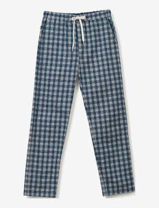 Leon Organic Cotton Flannel Pants - vêtement de nuit - blue/white