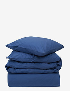 Blue Washed Cotton Bed Set - bedding sets - blue