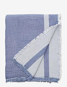 Double Faced Cotton Bedspread - sprei - blue/white