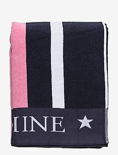 Family Beach Towel Cotton Blue/Multi - muut - blue multi