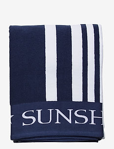 Family Beach Towel Cotton Blue/White - strandhanddoeken - blue multi