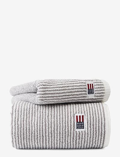 Original Towel White/Gray Striped - hand towels & bath towels - white/gray