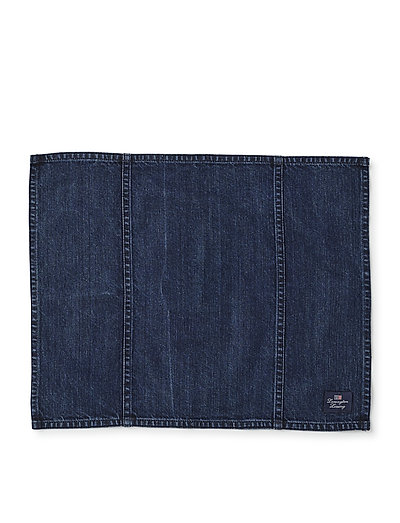 Icons Cotton Twill Denim Placemat - placemats, table mats and coasters - denim blue