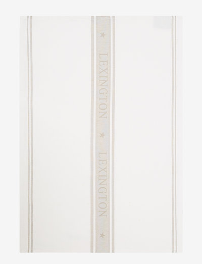 Icons Cotton Jacquard Star Kitchen Towel - tea towels - white/beige