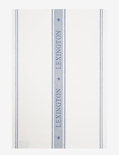 Icons Cotton Jacquard Star Kitchen Towel - tea towels - white/blue