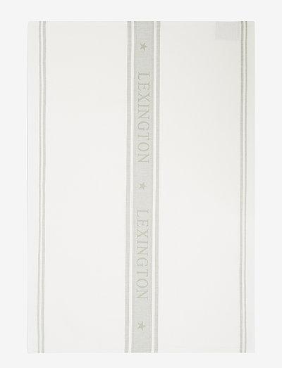 Icons Cotton Jacquard Star Kitchen Towel - tea towels - white/sage green