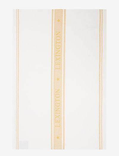 Icons Cotton Jacquard Star Kitchen Towel - tea towels - white/yellow