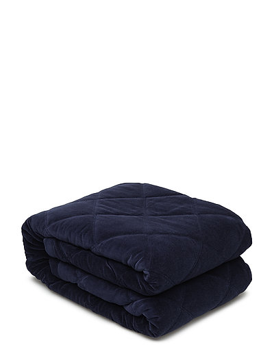 Quilt Velvet Bedspread - BLUE
