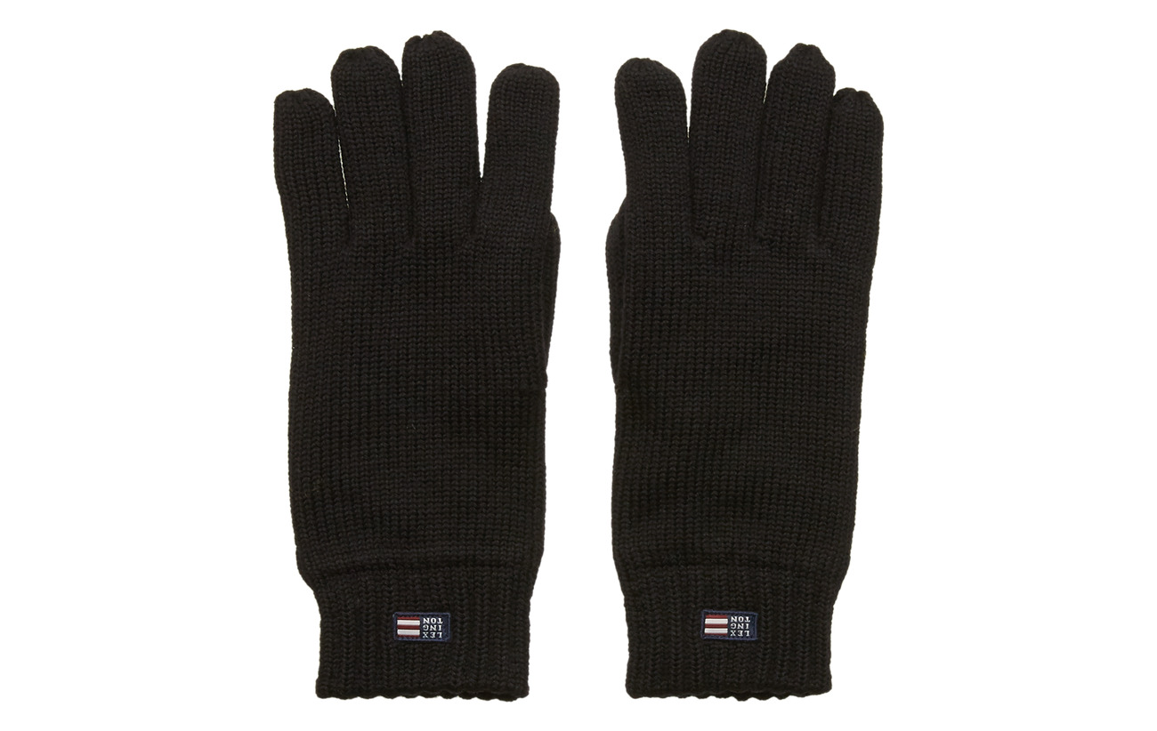 Lexington Clothing Connecticut Knitted Gloves - BLACK
