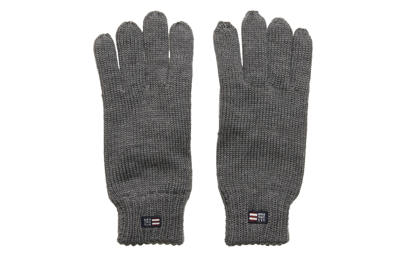 Lexington Clothing Connecticut Knitted Gloves - GRAY MELANGE
