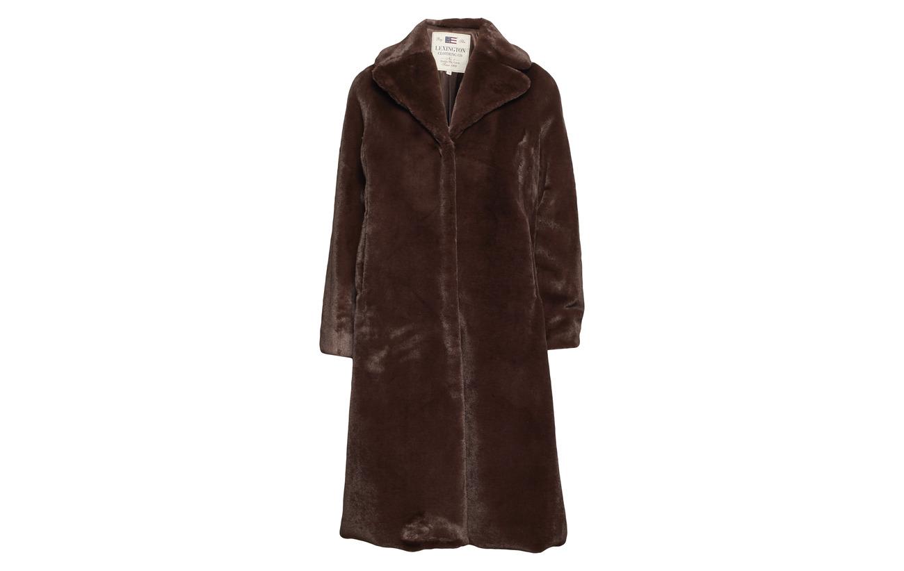 Coffee Équipement Brooke Bean Lexington Faux Brown Clothing Coat Fur Polyester 100 gZwFXHq