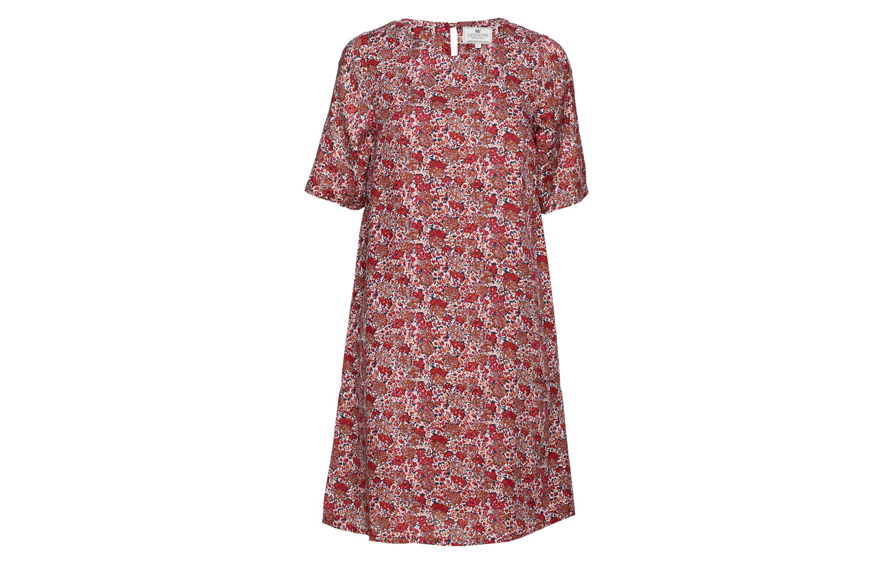 Flower Red Clothing Lexington 50 Dress Grace Viscose Coton Print pqHxAtw