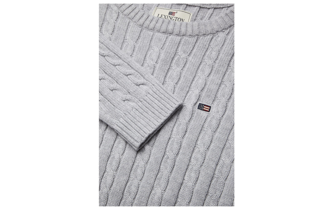 Lt Gray Warm Melange Clothing Cable Felizia Coton Lexington Sweater 100 CwBqn