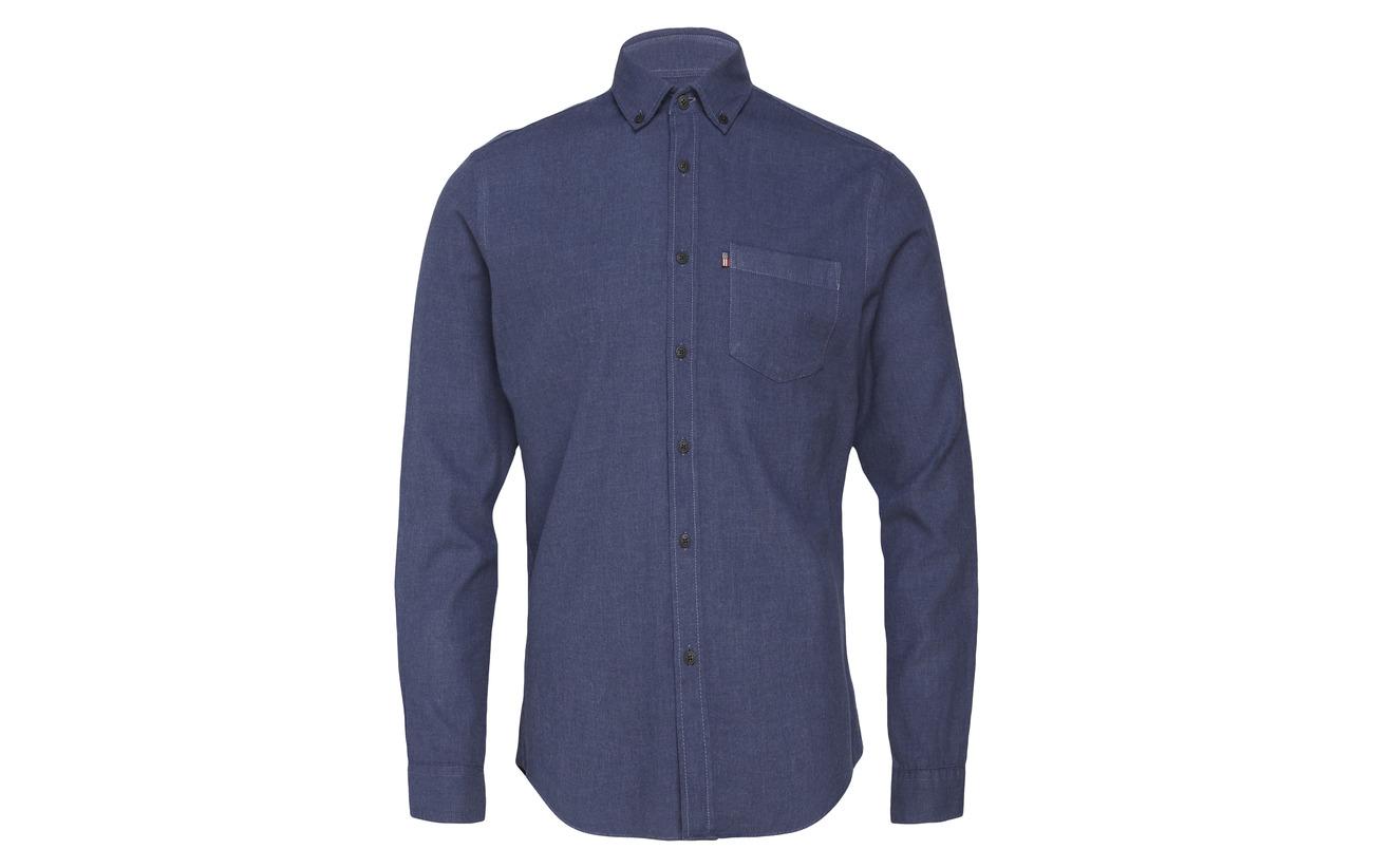 Lexington Peter Clothing Shirt Flannel Indigo Lt HzpHx